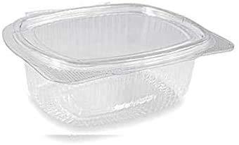 VIRSUS 50 Vaschette ovali in Pet vaschette Trasparenti 500cc con Coperchio Unito. Contenitori con Chiusura ermetica
