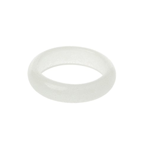 Wubxbvvx Anillo luminoso de fluorita natural de 8 mm