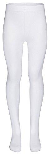 tanzmuster Kinder Ballett Strumpfhose Lena mit Fuß und ohne Zwickel in weiß, Größe 152-170