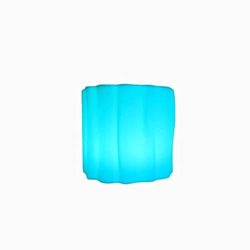 Tocón de árbol de verano Tocón Creativo Colorido Taburetes LED RGB CUBE LIGHT 4 COLOR CAMBIO DE MOOD CUBO Noche Luz Ideal para lámpara de humor Lámpara Piscina Yard Party Party Dormitorio Decoración I