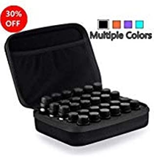 Myonly Essential Oils Carrying Case Holds, 30 Bottles 5ml, 10ml, 15ml Bottles Storage Organizer Bag Hard Shell EVA (Black)