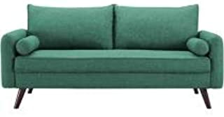Mid Century Modern Design Kylie Upholstery Fabric Sofa Cushioned with Back Support (Seafoam Green)