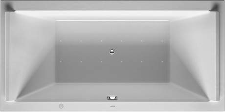 Duravit Whirlpool Rechteck Starck 1800x900mm Einbauversion oder für Wannenverkleidung, Zwei Rückenschrägen, Gestell, Ab- und Überlaufgarnitur, Airsystem - 760339000AS0000
