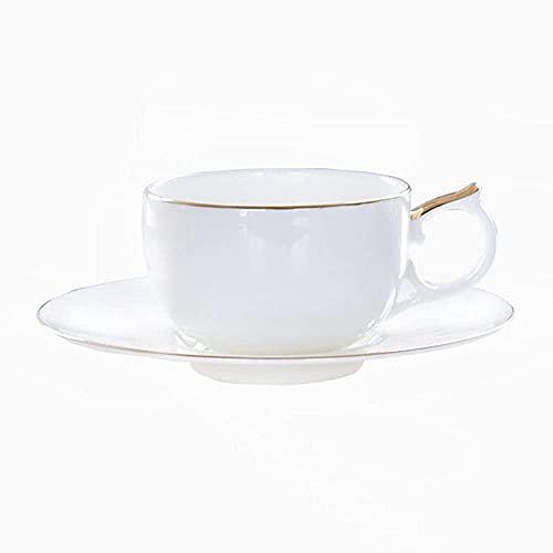 WYZQ Taza de café de Porcelana China para Colgar en la Oreja Taza de café Taza de té de la Tarde Cafetera Latte Espresso Cappuccino Latte Cup Adecuado para Restaurante Familiar Hotel, Tazas