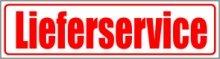 INDIGOS UG - Magnetschild Lieferservice 45 x 12 cm - Magnetfolie für Auto/LKW/Truck/Baustelle/Firma