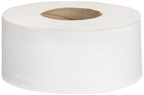 AmazonCommercial Jumbo Roll Toilet Paper, 700 Feet per Roll, 12 Rolls
