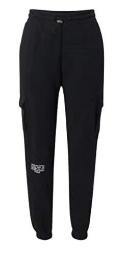 NIKE W NSW SWSH Pant FT MR Pantalones de compresin, Black/(White), XL para Mujer