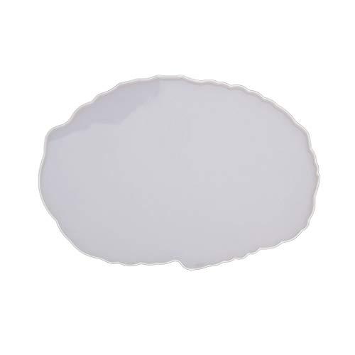 ZJL220 Molde de resina epoxi irregular con bandeja de fundición para manualidades, decoración de escritorio