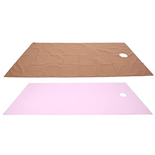 KAKAKE Drap de lit de Massage Tissu Suspendu résistant à l'huile Conception de Tissu de Fond épaissi imperméable à l'eau(Pink+Dark Coffee)