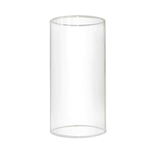 Sunwo Glass Shade Straight Cylinder Glass Lamp Shade Replacement with Multiple Effects (3 IN x 6 IN Clear Straight Cylinder)