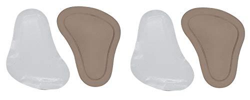 Green-Feet 2 Paar orthopädische Taccofit Mittelfuß Pelotten Nappa Leder Pelotte in T-Form Spreizfuß, Unisex - Erwachsene Einlegesohle, Doppelpack beige (38/40)