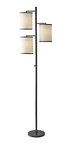 Adesso Home 4152-26 Transitional Three Light Floor Lamp from Bellows Collection in Bronze/Dark Finish, 10.00 inches, 3, 74 in