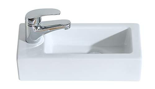 Eridanus, Serie Vento, Wandmontage Waschbecken, Waschplatz, Aufsatz Waschbecken, Links