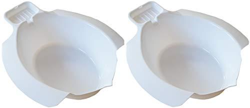 mobiles Ingbertson Einsatz-Bidet für WC aus Kunststoff Toiletteneinsatz Bidet Sitzbad Bidetbeckenaufsetz Sitzbecken Sitzwanne (A, 2 - Pack)