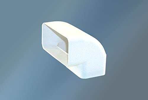 QM- ABLUFT-TECHNIK Flachkanalwinkel Flachkanalwinkel senkrecht 90° weiß ø 125
