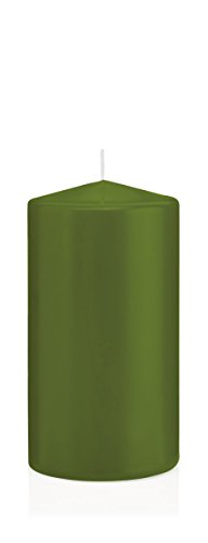 Bougies Olive, Bougies Pilier Olive 10 x 5 cm (H x Ø), 24 pièces, Bougies Wiedemann, Bougies de Marque Made in Germany