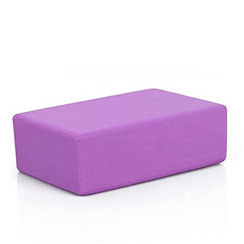 Ladrillo de Yoga Bloque de yoga Ladrillo EVA Accesorios de meditación antiadherente Cubos for yoga Bolster Gym Pilates Ejercicio Fitness Deporte Cojín para Yoga ( Color : Purple , Size : 23x15x7.8CM )