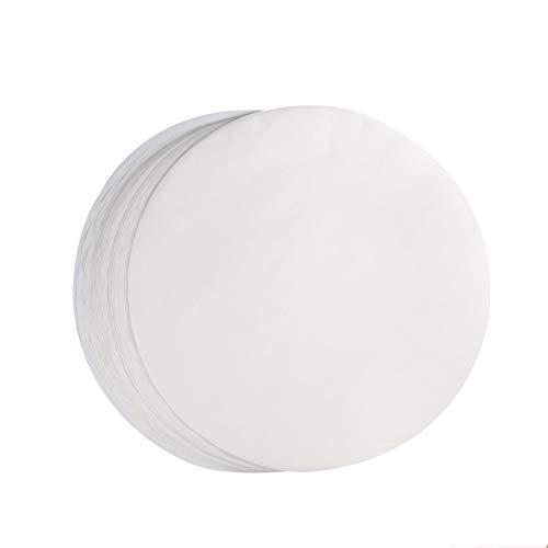OKBY Rundes Pergamentpapier - 100 Stück Backpapier Rundes, 10 Zoll BBQ-Pergament Antihaft-Backpapier Pergamentpapier Kreise Blätter für Grill Cook Steam Air Fryers (Weiß)