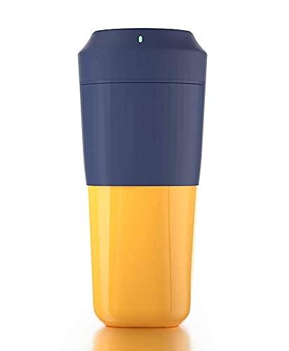HYLK Taza de agua Exprimidor eléctrico Mezclador portátil USB Recargable con 400 ml Bpa libre máquina exprimidor portátil para oficina deportes viajes (color: azul)