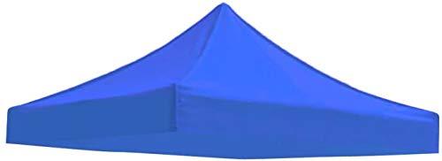 Vonluxeshop Cubierta de repuesto para toldo de patio al aire libre – Toldo de techo para gazebo Pavilion (azul, 2 x 2 m)