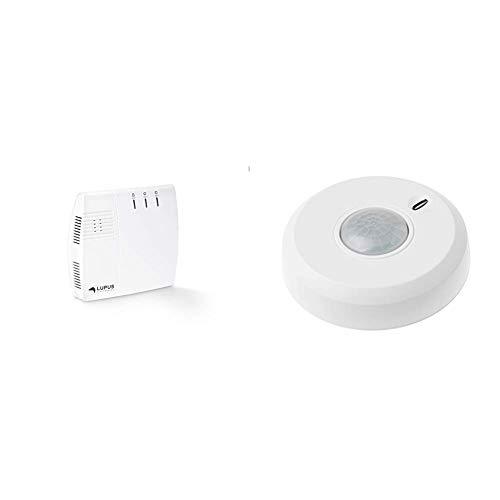 Lupus-Electronics 12045 XT2 Plus Zentrale, Smarthome Alarmanlage mit GSM Modul & 360 Grad Bewegungsmelder für das XT Smarthome Alarmanlage, Sabotageüberwachung, batteriebetrieben, Weiß, 106 x 30,5