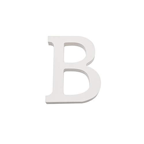 Arte infinita - Letras y números de madera alfabeto para decoración 15 cm (B)