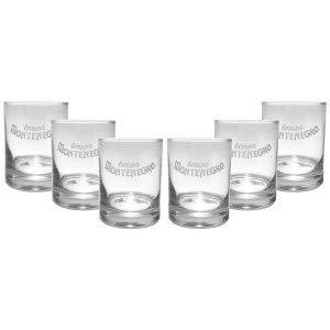 Amaro Montenegro Tumbler Glas Gläserset - 6x Gläser 4cl geeicht