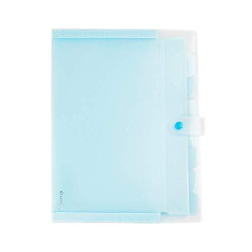 kaige Solide Dateiordner Vierfarbige Akkordeon-Tasche Ordner Multi-Layer-Rolle Aufbewahrungstasche Test Papier Clip Weich (Farbe: gelb) WKY (Color : Blue)