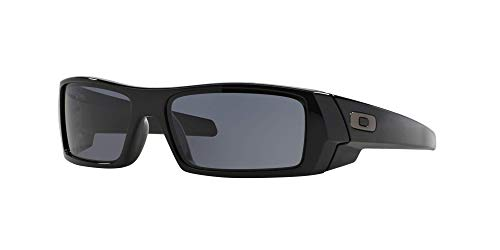 Oakley GASCAN OO9014 Sunglasses For Men + Accessories Bundle (Polished Black/Grey (03-471), 60)
