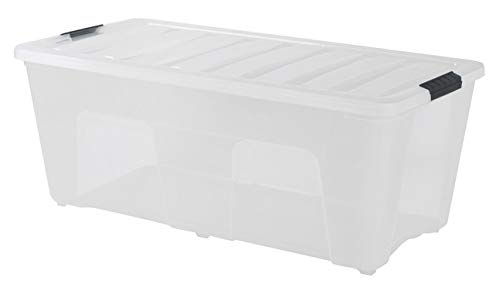 IRIS Stack & Pull Clear Storage Box, 53 Quarts