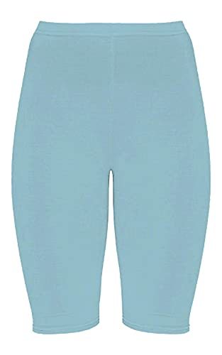 janisramone Pantalones cortos de ciclismo para mujer y mujer, elásticos, para bailar sobre la rodilla, para gimnasio, deportes y ciclismo
