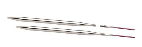 KnitPro - Punte intercambiabili per Ferro Circolare, 4,50 mm 100 mm, 1 Coppia, in Metallo