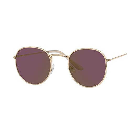 Gafas de sol ovaladas vintage para mujer, lentes transparentes, redondas, para mujer, Oculos de Sol, color plateado y rosa