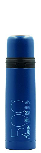 Laken Azul Termo de Acero Inoxidable con Tapón-Vaso 0,5L, Adultos Unisex, 500ml