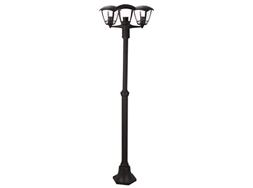 Lanterne réverbère 'Selene' 3 lumières sur poteau cm. 200H