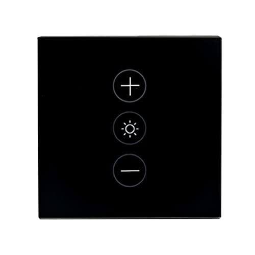 Tashido BotóN de Interruptor Wifi, Tuya APLICACIóN Inteligente Sensor Remoto Regulador de Luz LED Atenuador de PresióN de Pared Sensor de Interruptor EstáNdar de la UE Negro