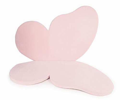 MeowBaby 184x135cm Speelmat Voor Kinderen Vlinder Vloermat Baby-Kindertapijt Opvouwbare Matras Speeltapijt Speeltenten Opvouwbare Mat Licht Roze