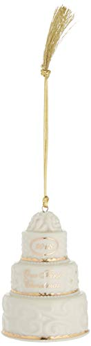 Lenox 2018 Our First Christmas Together Cake Ornament