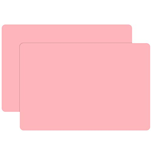 23.6 x15.7 inch Resin Silicone Mats, Gartful X-Large Silicone Sheets for Jewelry Casting Molds, Nail Art, Acrylic Pouring, Nonstick Table Protector, Multipurpose Mat, Pink, Set of 2