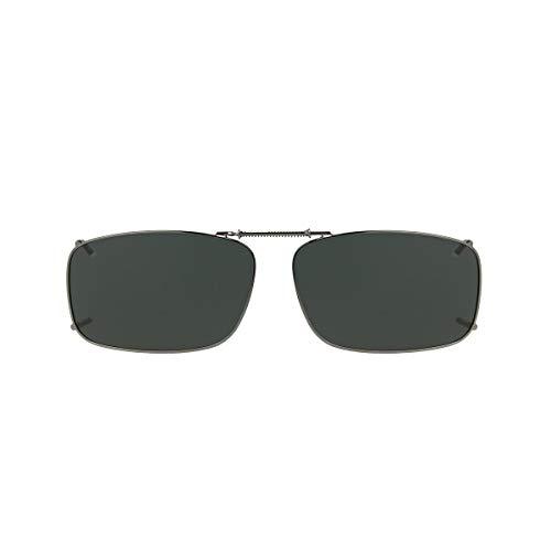 Solar Shield 52 Rec 19 Gray Polarized lens Ultra Light frame Clip on Sunglasses