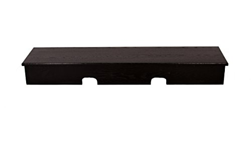 Black X-Large Smooth Top Sound Bar TV Riser 53x13x6 outside-50x12x5 1/4 Inside