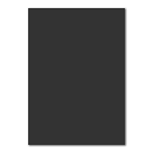 50 DIN A4 Papierbogen Planobogen -Schwarz - 160 g/m² - 21 x 29,7 cm - Bastelbogen Ton-Papier Fotokarton Bastel-Papier Ton-Karton - FarbenFroh®