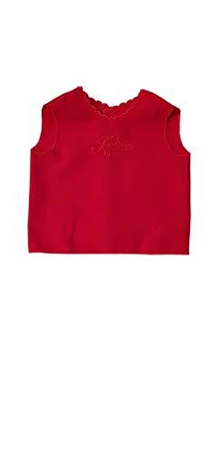 PASTELLO Camicina della fortuna baby smanicata colore rossa (ART. 7050)