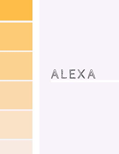 Alexa: Sketch Book | Orange | Wrap around design | Personalized sketch pad for kids with name | 100 blank pages