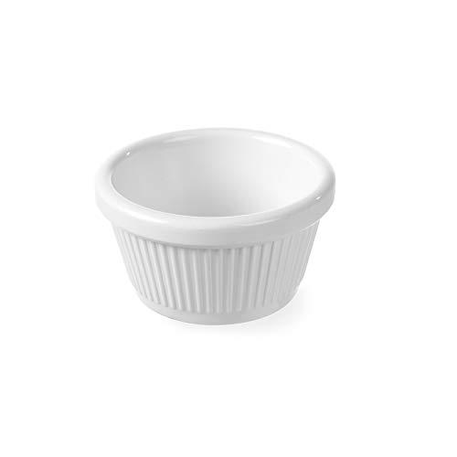 HENDI 565650 - Moldes para horno (melamina, 50 ml, 70 x 35 mm, 24 unidades), color crema