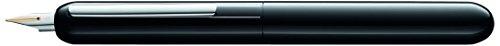 LAMY dialog 3 Füllhalter 074 – faszinierender Füller im glanzschwarzen Lack-Finish mit Drehmechanik und mit voll versenkbarer, partiell platinierter 14 kt - Goldfeder – Federstärke F