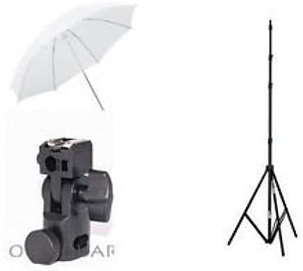 Generic Photo_35 Small Studio Home 39 Umbrella Light Setup With B-Bracket And Stand (Black and White) - Set of 3