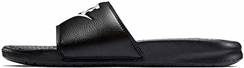 Nike Men's Benassi Just Do It Athletic Sandal, Black/White Noir/Blanc, 9.0 Regular US