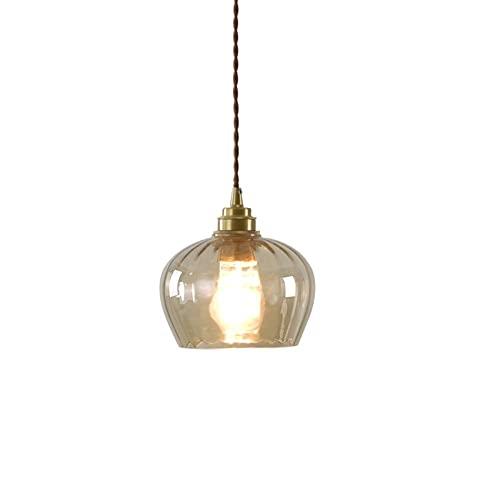 Chandelier de granja Iluminación colgante contemporánea Copa de succión de cobre + vidrio Colgante Creatividad Sencillez Lámpara de Droplight Simplórica Adecuada for la habitación de conferencias de l