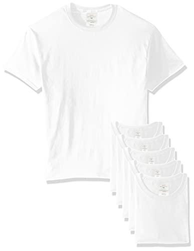 Hanes Men's Ecosmart T-Shirt (Pack of 6), White, Large